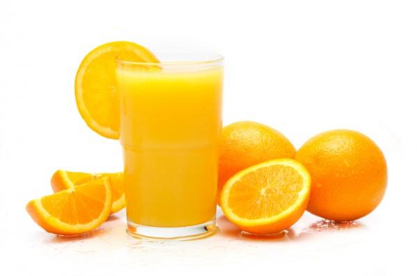 Gripten korunmak için portakal suyu için
