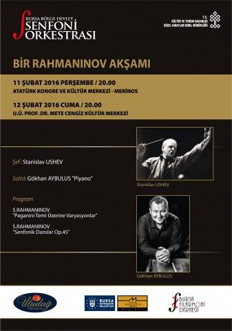 """Bursa'da """"bir rahmaninov akşamı"""""""