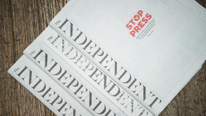 The Independent artık basılmayacak