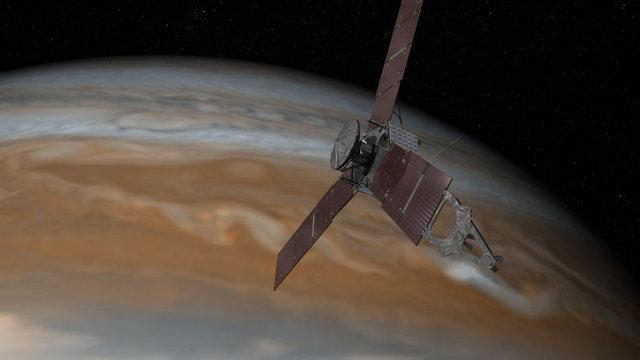 İşte Juno'nun dünyaya gönderdiği ilk fotoğraf