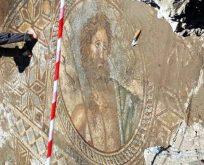 Yunan tanrısı Poseidon tasvirli mozaik bulundu