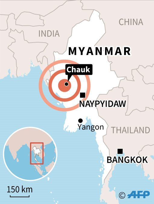Myanmar'da 6.8 şiddetinde deprem