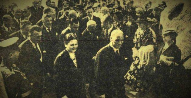 Ata Türkiye'nin ilk resim sergisi açılışında (20 Eylül 1937)