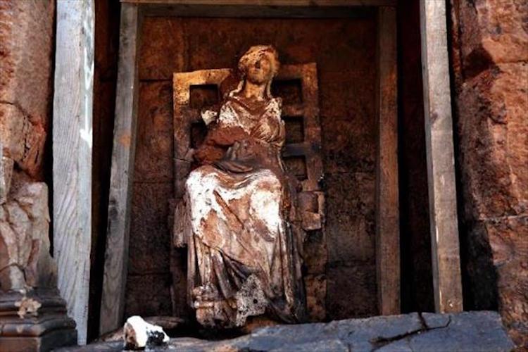 Ordu'da 2100 yıllık tanrıça Kibele heykeli bulundu