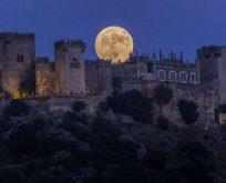 Süper Ay İspanya'dan böyle görüntülendi – Video