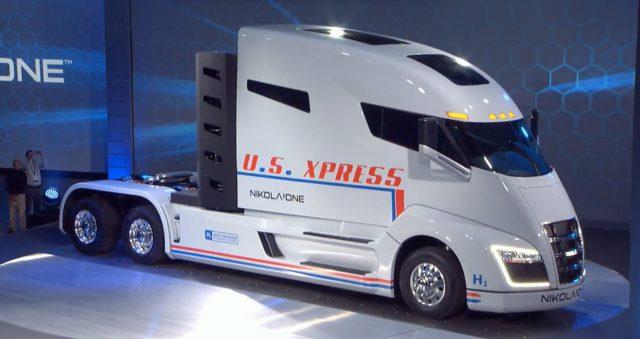 Hidrojenle çalışan kamyon