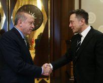 Cumhurbaşkanı Erdoğan Elon Musk'la görüştü