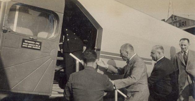 Atatürk hiç uçağa bindi mi?