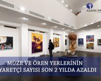 Müze ve ören yerlerinin ziyaretçi sayısı azaldı