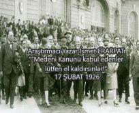 17 Şubat 1926 – Türk Medeni Kanunu