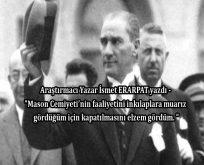 Atatürk'ün Yahudilik ve Masonluk bağlantısı arayışları