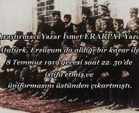 Atatürk Erzurum Kongresi'ne hangi elbiseyle katılmıştı?