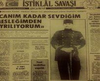 8 Temmuz 1919 Üniformaya veda…
