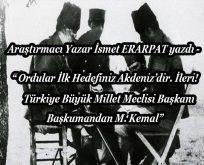 Başkomutan Mustafa Kemal 1 Eylül 1922'de ne söylemişti?