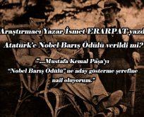 Atatürk'e Nobel Barış Ödülü verildi mi?