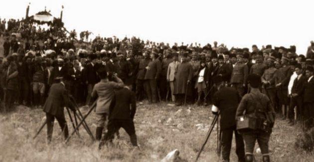 Atatürk 'Meçhul Asker Anıtı'nın Temel Atma Töreninde